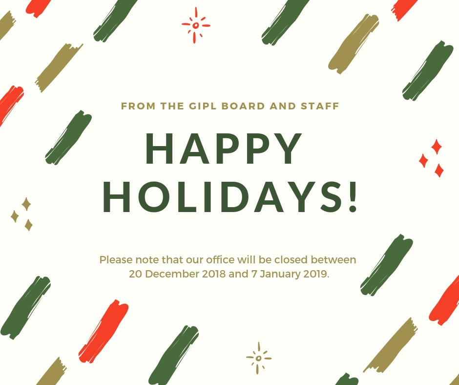 Christmas Greetings and Office Closure Dates  